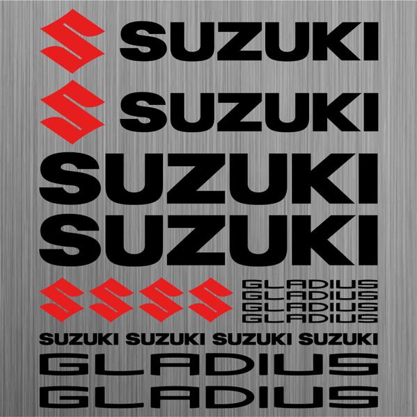 Suzuki Gladius Aufkleber Sticker Motorrad Motorcycle 18 Stücke Pieces