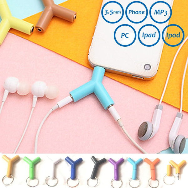 Picture of 3.5mm Y Shape Earphones Sharing Type Plug For Couple/family/friends