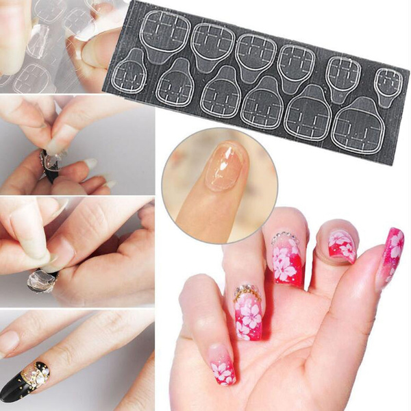 Wish 10 Sheets Double Side Glue Sticky Adhesive Tape For Nail Art
