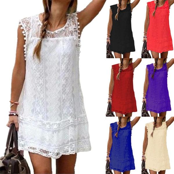 Mini, Vest, womens dresses, Lace