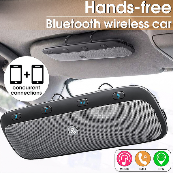 Bluetooth Wireless Car Hands Free Multipoint Speakerphone Speaker Kit Easy Link Visor Mobile Phone Calls Automatic Answering Wish