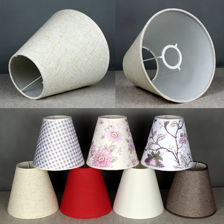Ceiling Lamp Shade Materials: Cotton Textured Fabric Drum Shade Bedroom Ceiling