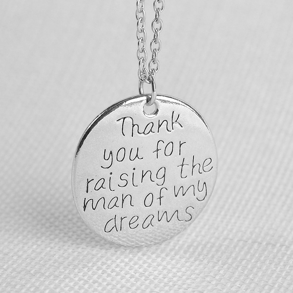Wish | Thank You for Raising The Man of My Dreams Letter Stamped