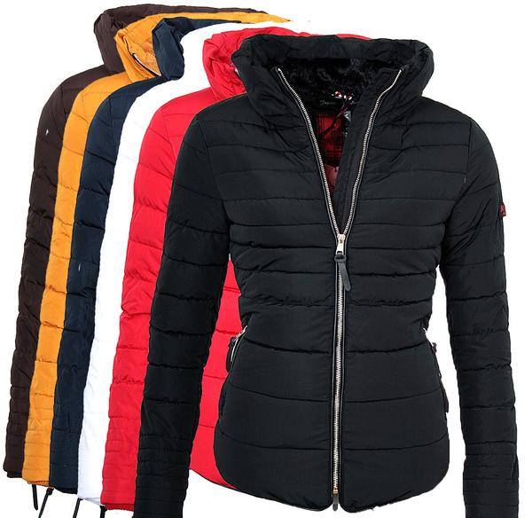 Steppjacke Marikoo Parka Amber2 Jacke Damen Warme Winter Teddyfell OPkn80wX