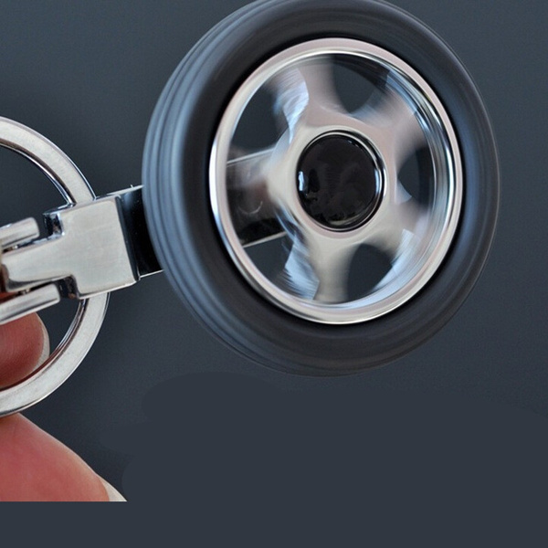 Car Logo Creative Rubber Wheel Tyre Tire Keychain Key Ring For Skoda