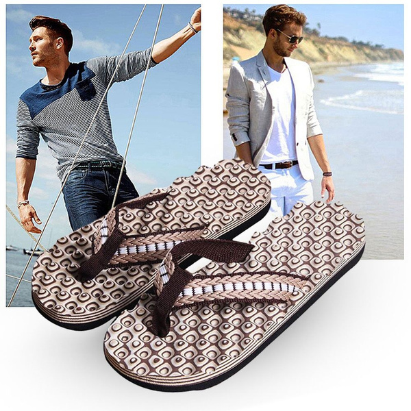 Picture of Men Flip Flops Shoes Sandals Male Slipper Indoor Outdoor Flip-flops Super Present