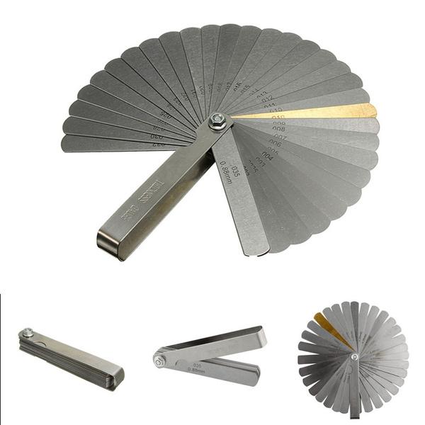 32 Blade Feeler Gauge Dual Reading Combination Measuring Metric Sae Set Up Tools