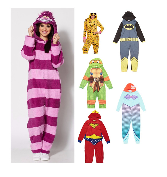 faddc27bf191 Adult Onesies womens unisex Unionsuit Footed Pajamas One-Piece PJ ...