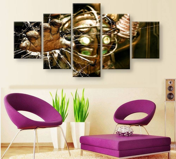 Wish   No Frame 5 Panel BioShock 2 Canvas Wall Art Oil Painting Living Room Home  Decor