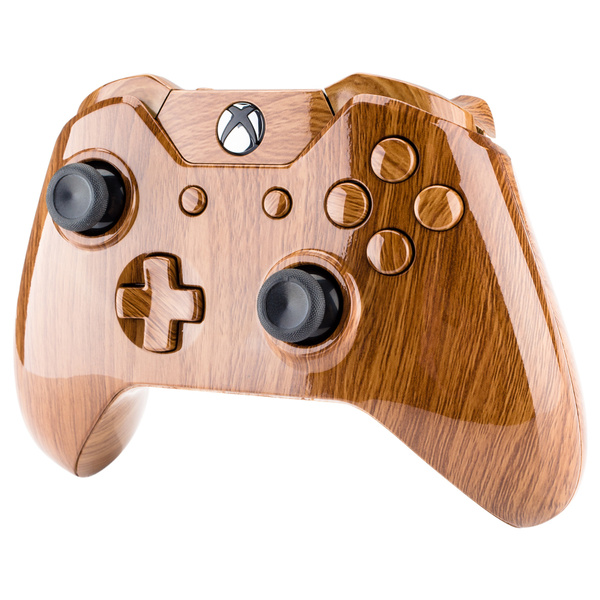 Custom Wooden Grain Patterned Full Housing Shell Button for Xbox One  Controller W/3 5 mm Jack