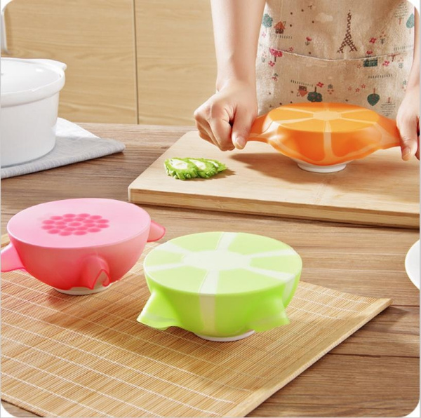 Multifunction Silicone Plastic Wrap Cover Refrigerator Microwave Bowl Lid  Heating Food Grade Refrigerator Closures Lids #Thfash CO ,LIMITED#