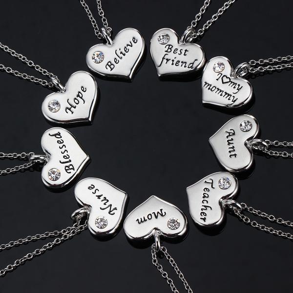 Necklace, Charm Jewelry, Heart Shape, Jewelry