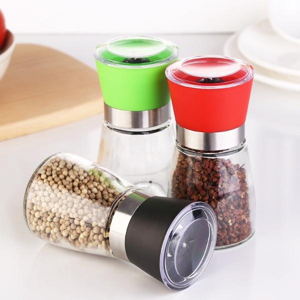 Picture of Pepper Grinder Round Bottle Grinder Adjustable Grinder Kitchen Objects Crusher