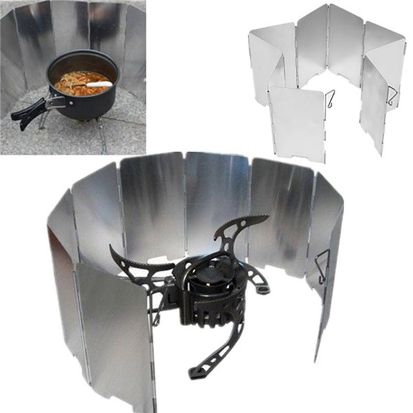 Picnic Wind Guard Cookware Cookout Stove Outdoor Supplies Foldable Wind Shi LD