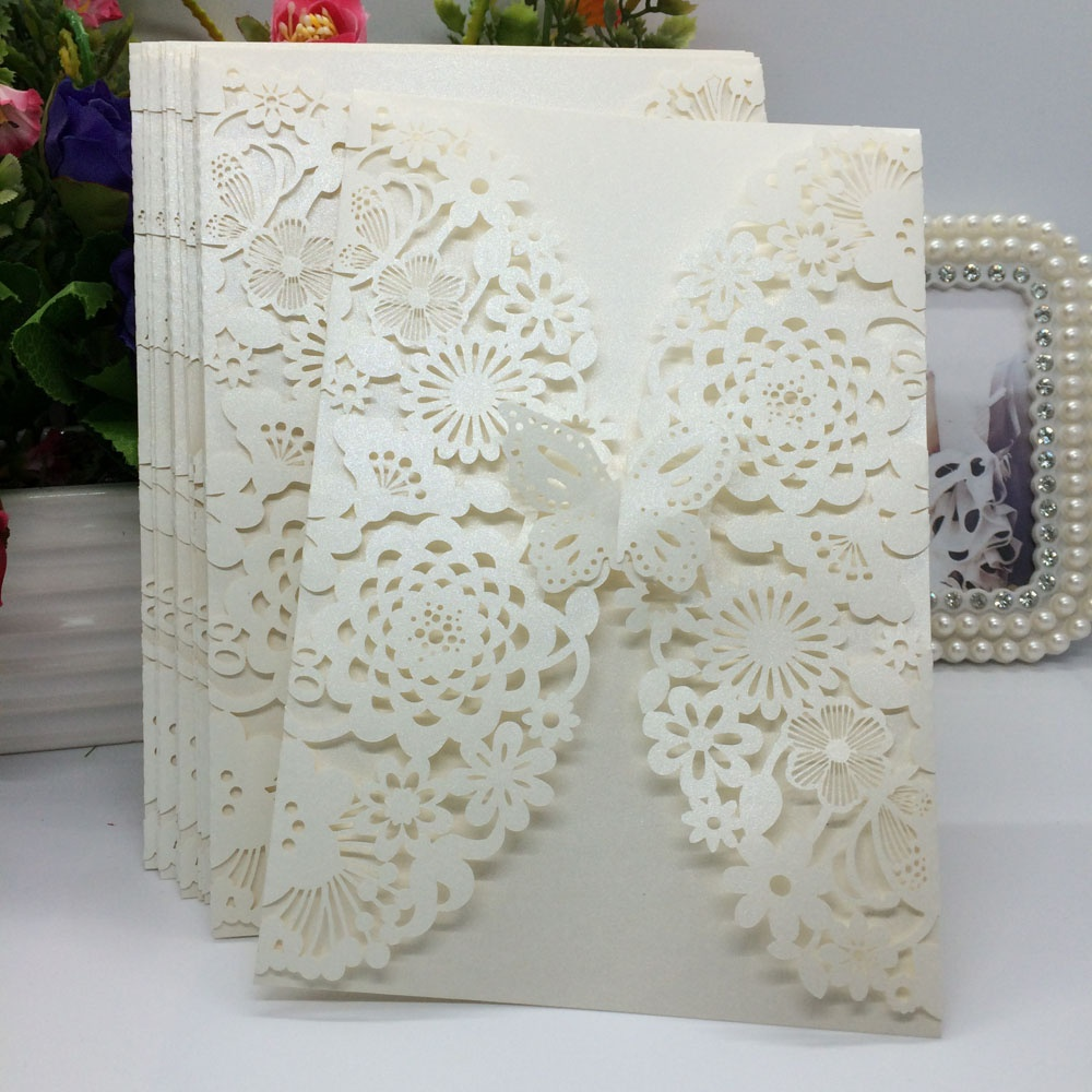 10pcsset delicate carved butterflies romantic wedding party picture of 10pcsset delicate carved butterflies romantic wedding party invitation card envelope invitations for monicamarmolfo Gallery