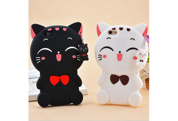 High-quality creative Lucky Cat cartoon silicone mobile phone case For iPhone5S 6 6s 6Plus 6sPlus / iPhone7 7Plus SamsungS7 Edge SamsungA7 A5 A7(2016) A5(2016)J3/ J5 J7 J3(2016)/ J5(2016) J7(2016) ON5(2016) ON7(2016) HUAWEI P9 P8 P9lite P8lite MATE7 honor8 V8 7i 7 5C XIAOMII