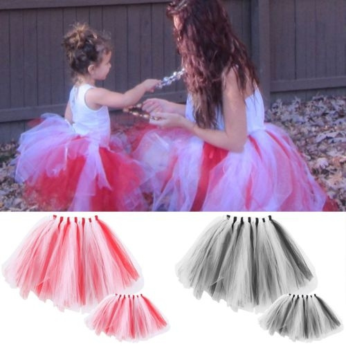 a97a488db650b8 Mother Daughter Matching Tulle Tutu Skirt Adult Baby Girls ...