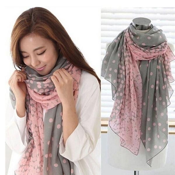 Women Long Soft Chiffon Scarf Wrap Large Silk Winter Shawl Stole Scarf B