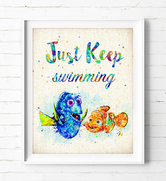FINDING DORY//NEMO A4 POSTER WALL ART