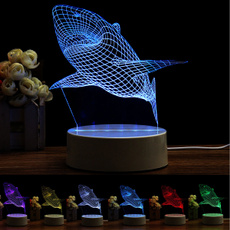 3dlamp, Shark, Night Light, Home Decor