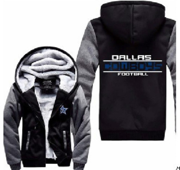 best sneakers 66a57 51075 Dallas Cowboys Thickened Zipper Hoodie Coat Cashmere Hoodies Warm Winter  Jacket Plus Size