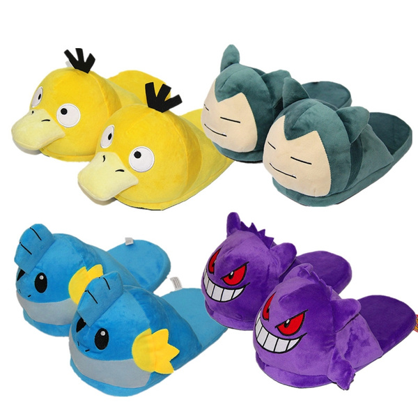 cd898e80be91 Pokemon Cosplay Snorlax Gengar Mudkip Psyduck Plush Slippers Winter Warm  Home Indoor Shoes