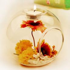 Decor, beautifulglasscandlestick, glasscrystalcandleholder, Candle
