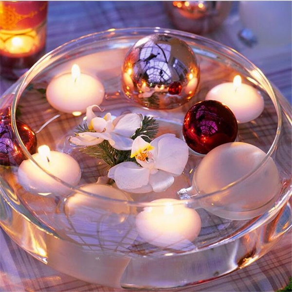 Christmas Floating Candles.10pcs Unscented Small Floating Candles For Wedding Party Event New Year Christmas Decoration Home Decor Candles