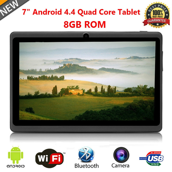 Picture of Unlocked 7 Inch A33 Android 4.4 Tablet Pc Quad Core Dual Camera Wifi 8gb Rom