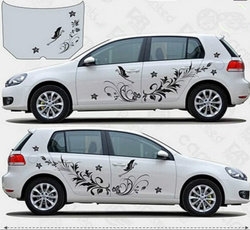 decalsampbumpersticker, Car Sticker, Flowers, Butterflies