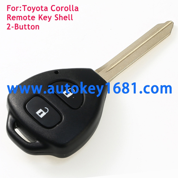 2 Button Remote Key Shell fits Toyota Rav4 Corolla Camry Prado Echo Hilux Yaris