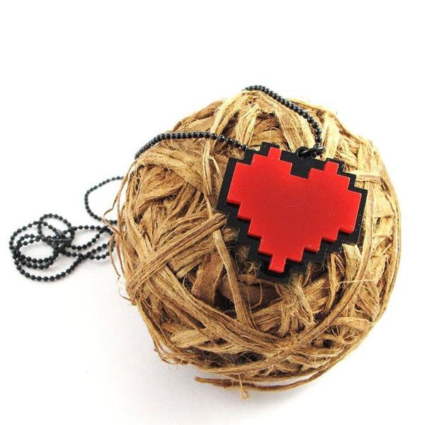 Love Heart Cosplay Necklace Pendant Game Undertale Papyrus Sans Frisk Bravery