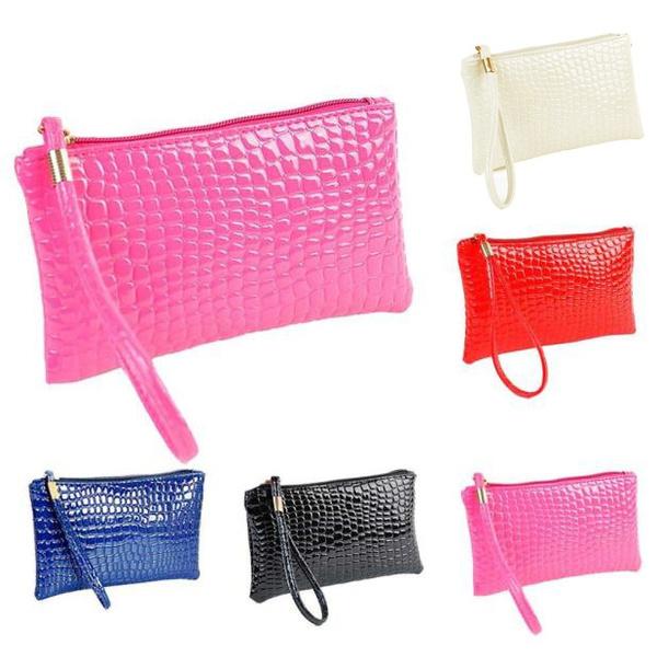 Picture of Women Crocodile Leather Clutch Handbag Bag Coin Purse