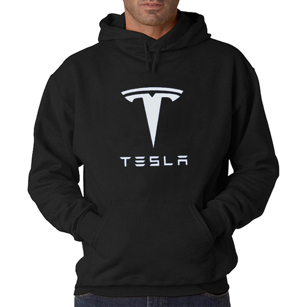 06ab79b7a Tesla Men Hooded Hoodie Fleece Jacket Coat Suit Casual Fashion Men's  Clothing