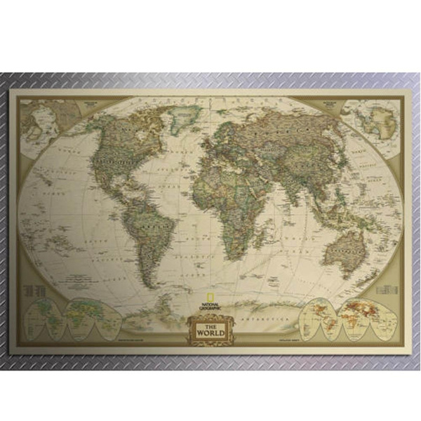 Wish world map paper posters retro vintage style retro in wall wish world map paper posters retro vintage style retro in wall stickers home decoraction art word map new gumiabroncs Image collections