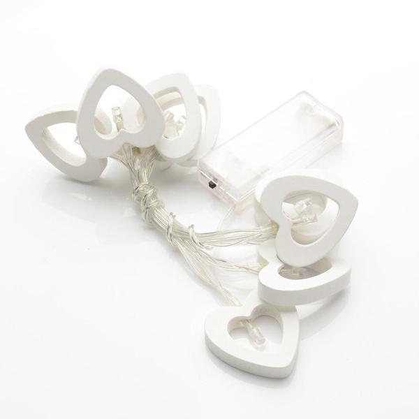 10 Coeur LED string feux Rideau de vacances Noël mariage Décor féerique  Lumiè