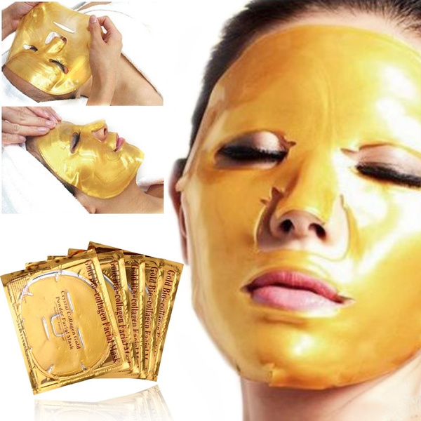 New Women Skin Care Facial Mask Gold Collagen Gold Crystal Collagen Powder Face Mask For Moisturizing Firming Oil Control Masks Wish