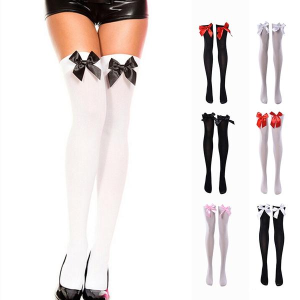 8a3cf01e77b9a Extra Long White Thigh High Socks Over Knee NEW High Long Stockings RI |  Wish