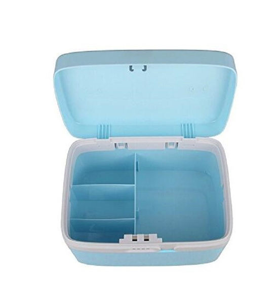Wish Combination Lock Medicine Cabinet With Separate Compartments Locking Prescription Pill Case Storage Box Size 11 X 7 4 6 2 Inches Blue