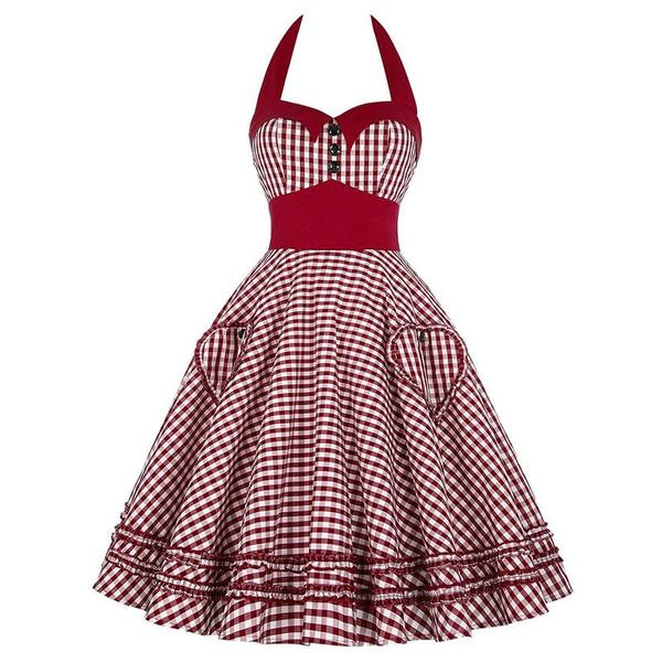 Women Dress Plus Size Summer Clothing Retro Swing Short Gown Robe ...