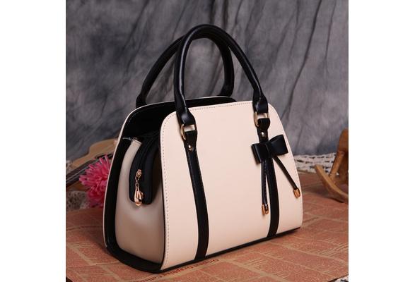 Fashion PU Leather Women Handbags HIgh Quality Shell Shoulder Bag Vintage Retro Bowknot Messenger Bags For Ladies 2018 New
