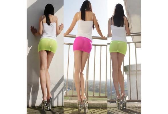 cb314f1ea4 Hot Sexy Sheer Tight Pencil Cute Skirt See Through Micro Mini Skirt Women  Fantasy Erotic Costumes Clothings   Wish