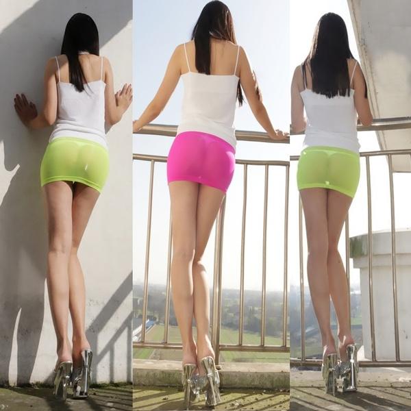 8083f39740 Hot Sexy Sheer Tight Pencil Cute Skirt See Through Micro Mini Skirt ...