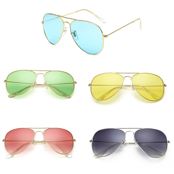 Wish | Creative New Accessories Vintage Retro Men Women Polarized Driving Glasses Mirror Anti-UV Sunglasses Outdoor Aviator Driving Eyewear UV400 Sunglasses ...