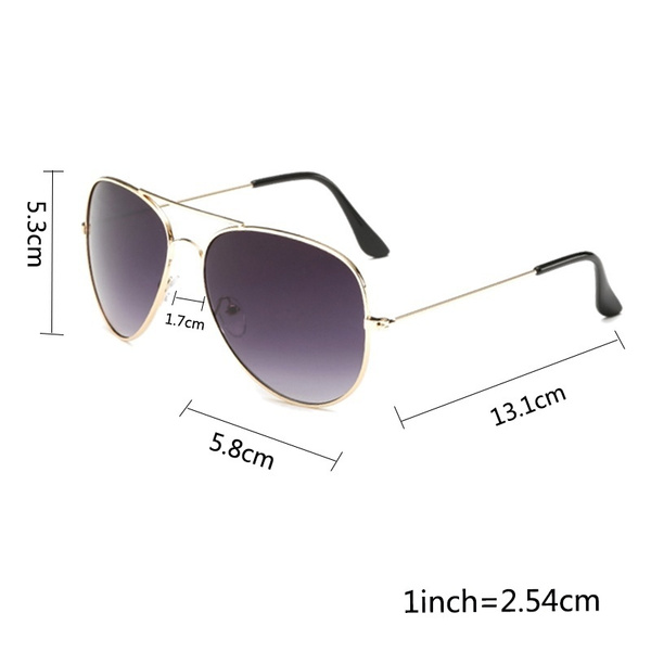 Picture of Fashion Outdoor Uv400 Protection Unisex Sunglasses Aviator Metal Eyewear Glasses Women Men Bat Mirror Pilot Cool Polarized Sunglasses