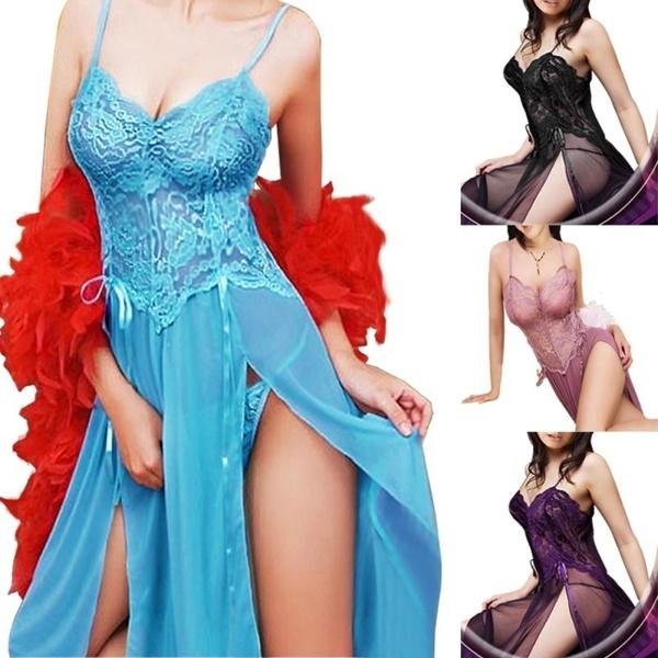 lacelingerieset, Plus Size, sleevelesslingeriedres, Sexy Dress