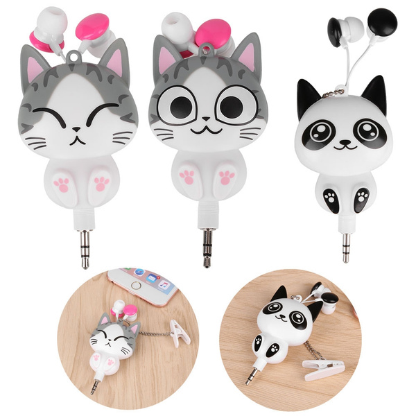 Picture of Cartoon Wired Retractable In-ear Headset Mp3 Earphones Headphones Earbuds