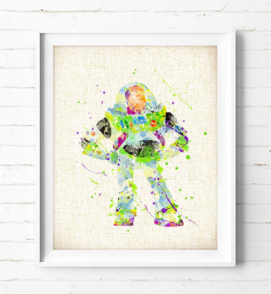 Toy Story Buzz Watercolor Painting