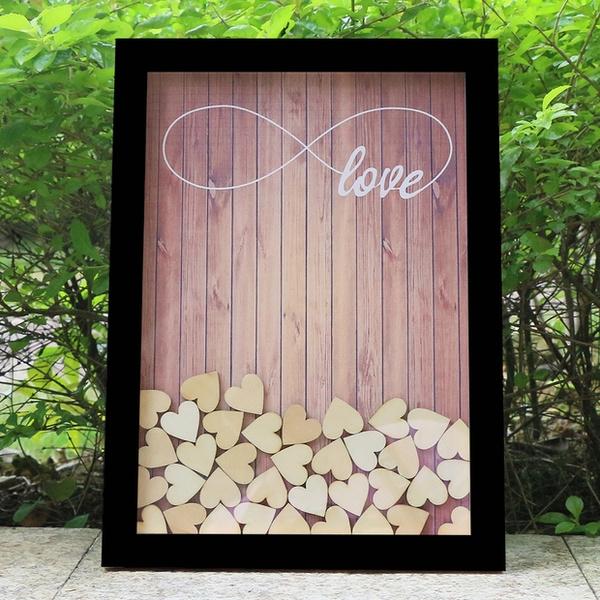 Love Wedding Guest Book Visit Sign Top Drop Hearts Unique Decoration Ideas