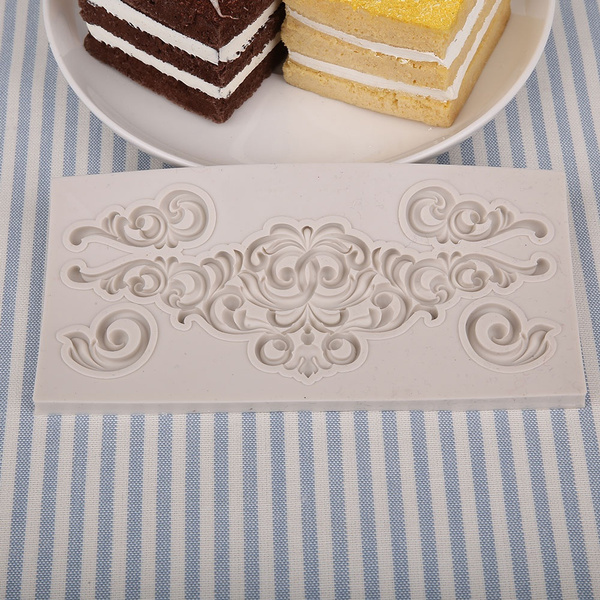 Silicone Molds Fondant Cake Chocolate Mold Kitchen Baking Cake Border Decoration